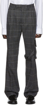 Off-White Off White Grey Slim Cargo Trousers