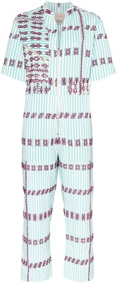 Pippa Holt Aline embroidered-stripe jumpsuit