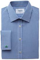 Charles Tyrwhitt Classic fit small gingham navy shirt