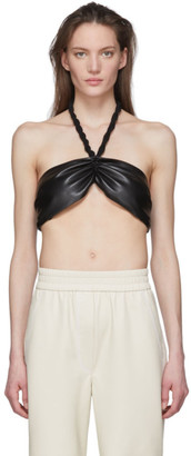 Nanushka Black Vegan Leather Laisa Bra