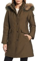 1 Madison Women's Parka With Removable Genuine Fox Fur Trim Hood