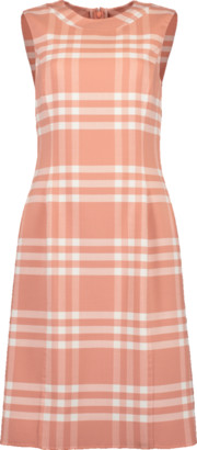 Oscar de la Renta Plaid Sheath Dress
