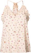Rebecca Taylor floral ruffle trim camisole - women - Spandex/Elastane/Shell - 2