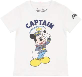 MC2 Saint Barth MICKEY MOUSE PRINT COTTON JERSEY T-SHIRT