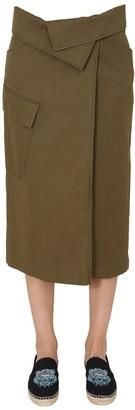 Kenzo Asymmetric Wrap Skirt