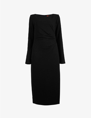 Max Mara Macario ruched knitted midi dress