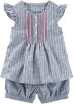 Osh Kosh Oshkosh Bgosh Toddler Girl Striped Henley Top & Shorts Set