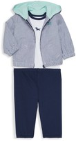 Little Me Baby Boy's 3-Piece Cotton Striped Jacket, Bodysuit & Leggings Set