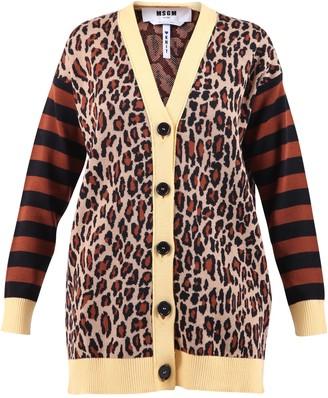 MSGM Leopard Motif Cardigan