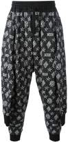 Kokon To Zai tied up monogram joggers