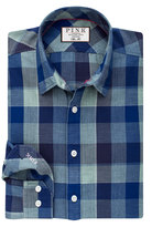 Thomas Pink Barker Check Slim Fit Button Cuff Shirt