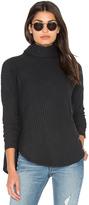 Bella Luxx Plush Rib Funnel Neck Pullover Sweater