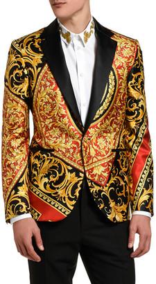 Versace Men's Baroque Satin-Lapel Dinner Jacket