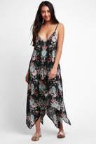 Tolani Bare Floral Printed Hanky Hem Swing Dress