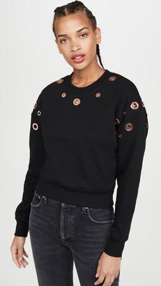 Good American Active Grommet Sweatshirt