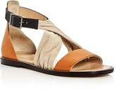 Belstaff Tallon Crisscross Color-Block Sandals
