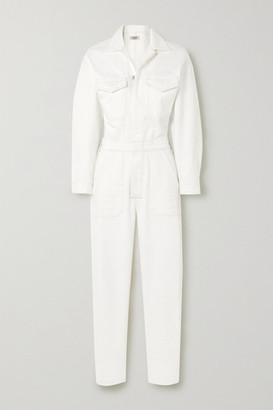 Citizens of Humanity Net Sustain Marta Organic Denim Jumpsuit - White