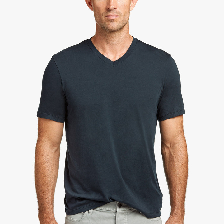 James Perse Luxe Lotus Jersey V-Neck