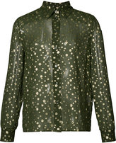 Vanessa Seward sheer spot shirt - women - Silk/Polyester - 34