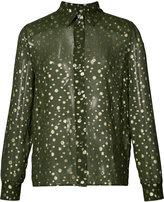 Vanessa Seward sheer spot shirt