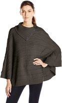Leo & Nicole Women's Missy Envelope Neck Poncho Sweater