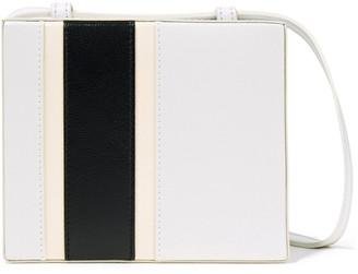 Jil Sander Color-block Leather Shoulder Bag