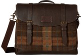 Johnston & Murphy Suede Leather Flapover Brief Briefcase Bags