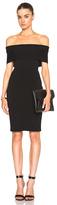 Rosetta Getty Banded Viscose Dress in Black.