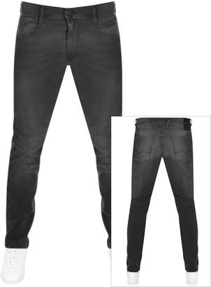 Replay Anbass Slim Fit Hyperflex Jeans Black