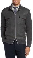 Eleventy Zip Wool Blend Sweater Jacket