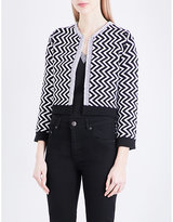 Maje Miami cropped knitted cardigan