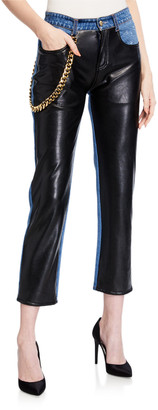 Hellessy Melling Faux-Leather Jeans