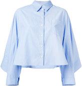 Koche - ruffled back shirt - women - Cotton - 36