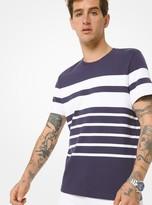 Michael Kors Striped Cotton Jersey T-Shirt