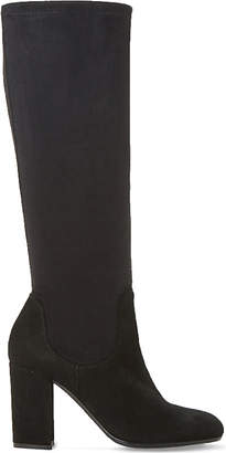 Dune Ladies Black Comfortable Under The Knee Stretch Boots