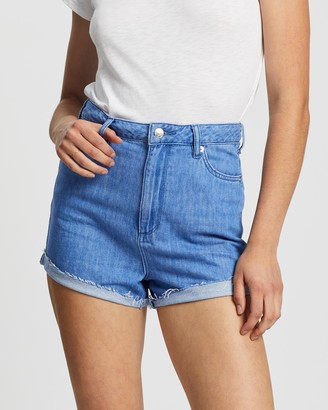 Lee Women's Blue Denim - Hi Mom Shorts - Size 6 at The Iconic