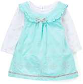 Nannette Aqua Snowflake Jumper & Bodysuit - Infant Toddler & Girls