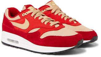 Nike Atmos Air Max 1 Premium Retro Suede, Nubuck And Mesh Sneakers