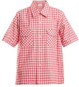 Chimala Gingham patch-pocket cotton shirt