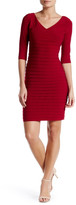 Adrianna Papell Banded Sheath Dress (Petite)