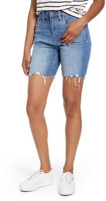 Madewell High Waist Mid Length Denim Bermuda Shorts