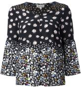 Suno floral v-neck blouse