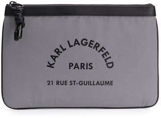 Karl Lagerfeld Paris logo clutch bag