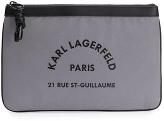 Karl Lagerfeld Paris Logo Clutch Bag