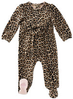 Kate Spade Jillian Leopard-Print Footie Pajamas, Size 3-9 Months