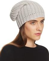 Aqua Chunky Knit Slouchy Hat