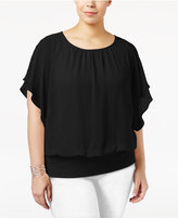 Jm Collection Plus Size Banded-Bottom Top, Only at Macy's