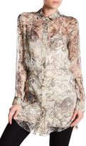 Haute Hippie Jungle Print Silk Shirt Dress