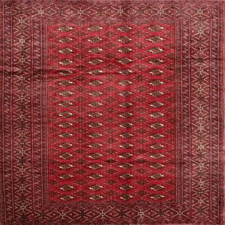 Bungalow Rose Glen Southwestern Red Area Rug Rug Size: Square 8'