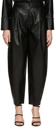 Áeron Black Faux-Leather Fran Trousers